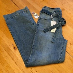 Vince Camuto Jeans - Vince Camuto Belted Wide-Leg Jeans Size 27/4